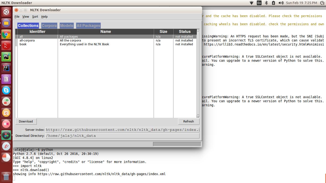 Environment setup for NLTK - Python Natural Language Processing