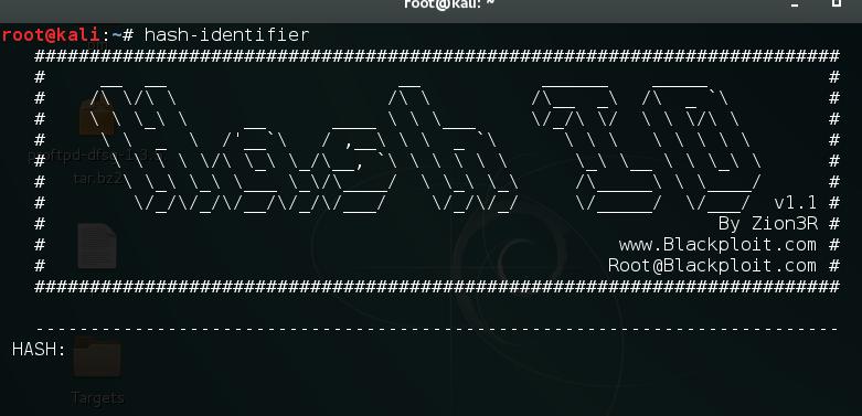 Using hash-identifier - Kali Linux - An Ethical Hacker's