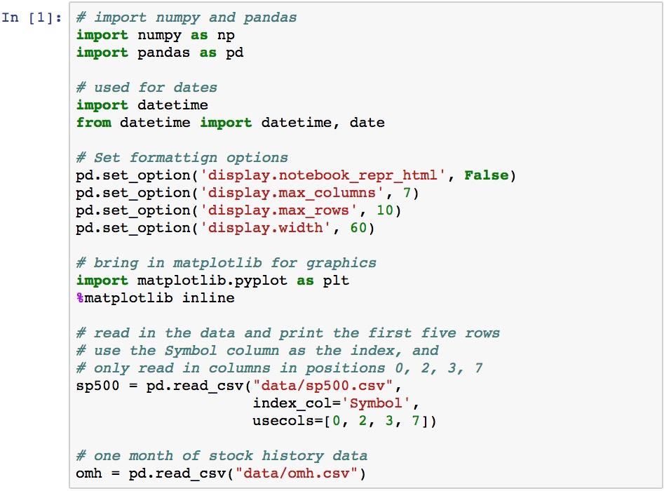 Configuring pandas - Learning pandas - Second Edition