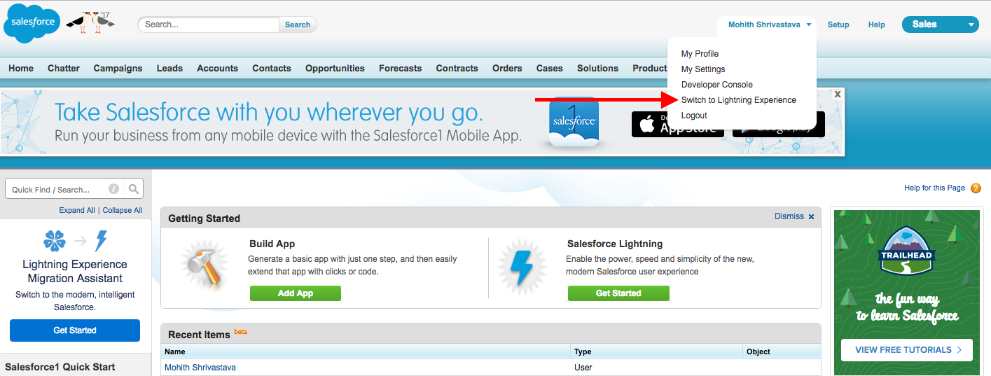 Lightning Experience - Learning Salesforce Lightning Application