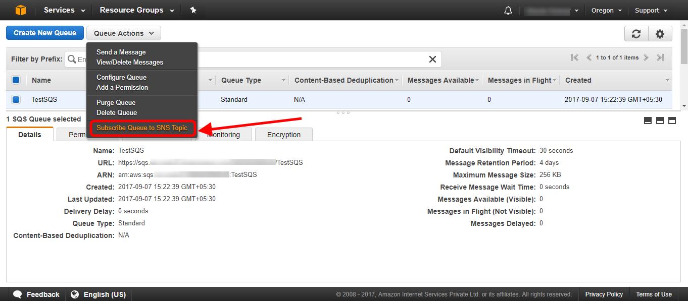 Sending Amazon SNS messages to Amazon SQS queues - AWS