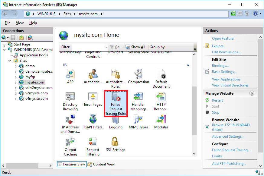 Configuring Failed Request Tracing Rules - Microsoft IIS