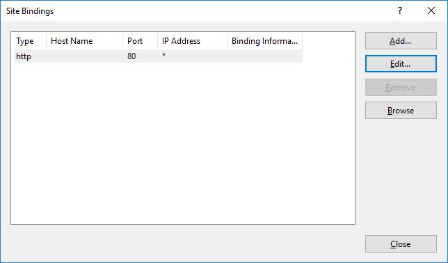 Basic configuration of IIS 10 0 - Microsoft IIS 10 0 Cookbook