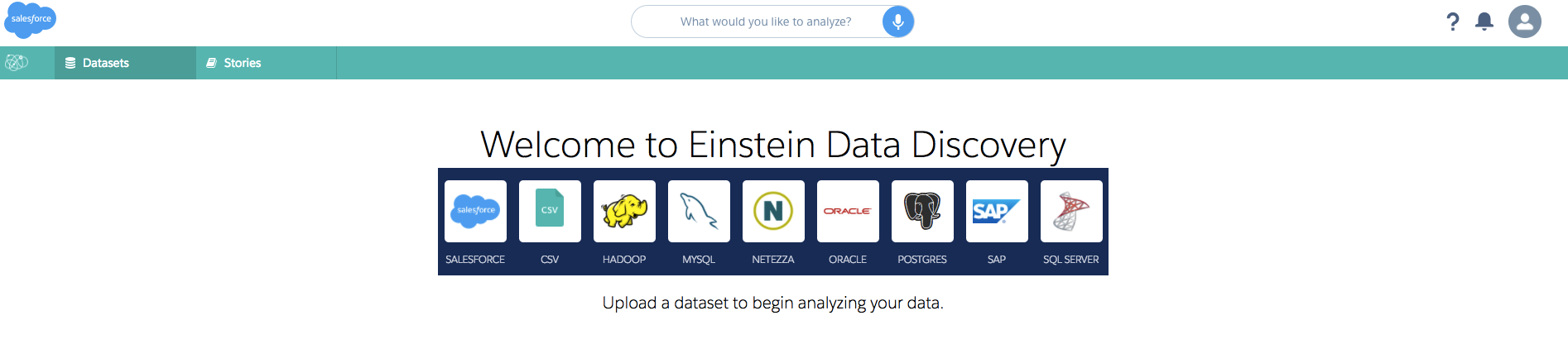 Importing Salesforce data into Einstein Data Discovery and creating