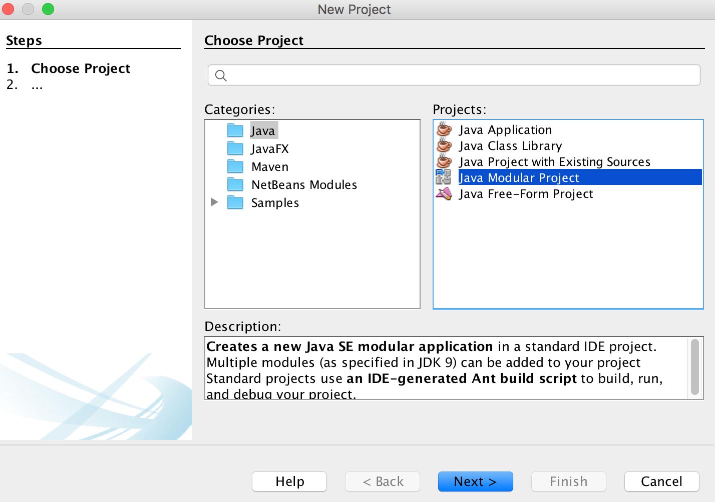 Creating a module using NetBeans - Modular Programming in Java 9