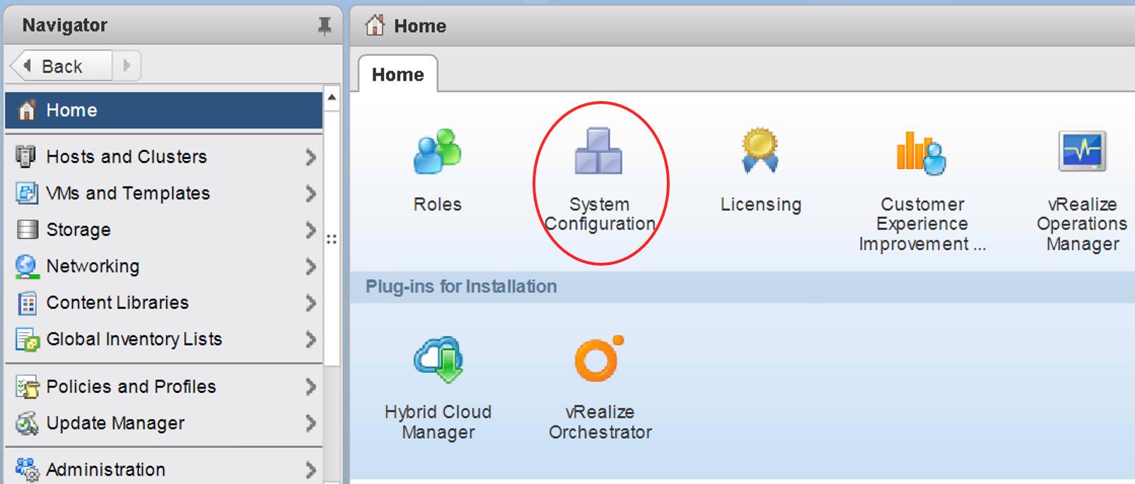 Activating vSphere Update Manager in vCenter Server Appliance