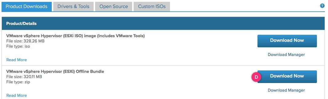 Downloading an ESXi offline bundle - VMware vSphere 6 5