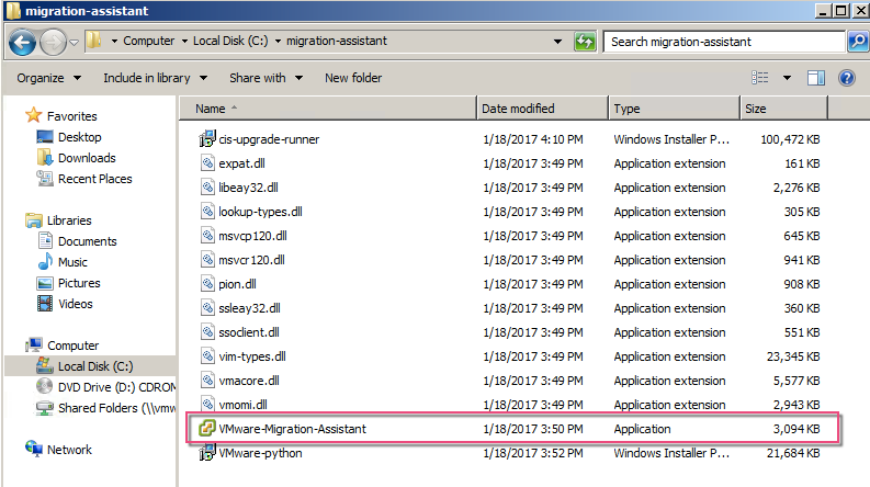 Using the vCenter 6 5 Migration Assistant - VMware vSphere