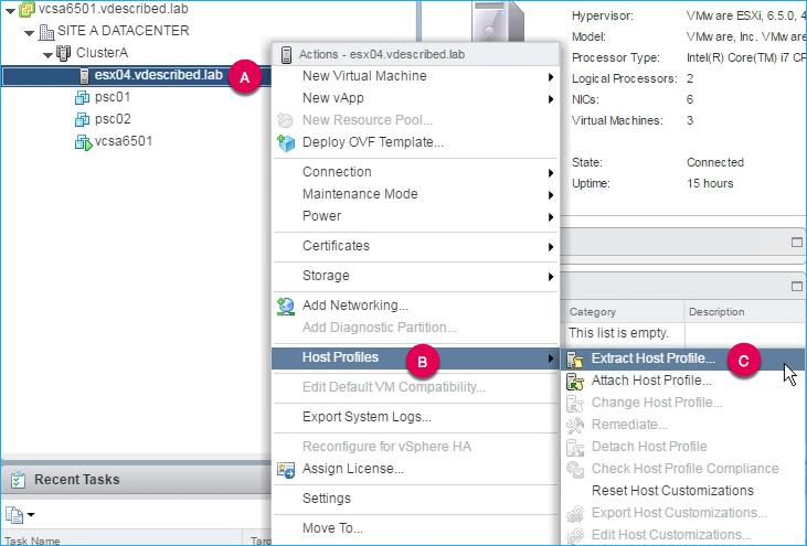 Creating Host Profiles - VMware vSphere 6 5 Cookbook - Third