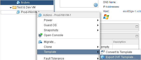 Exporting To An Ovf Template Vmware Vsphere 65 Cookbook