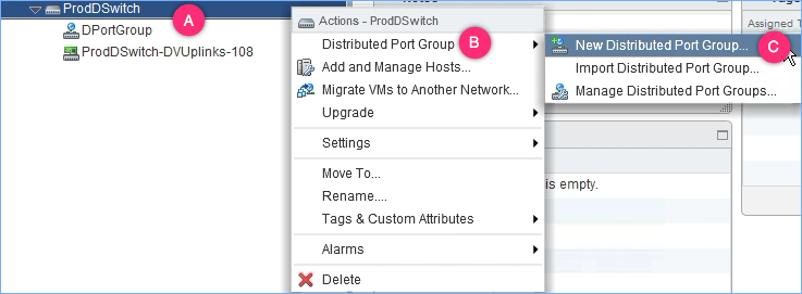Creating a vSphere Distributed port group - VMware vSphere 6 5
