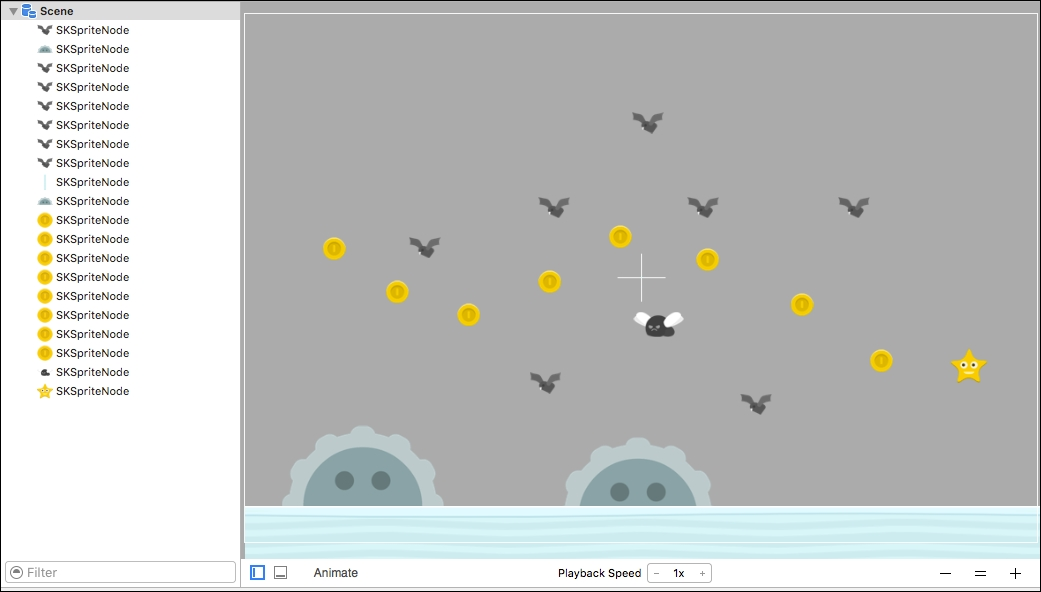 Designing levels with the SpriteKit scene editor - Swift 3