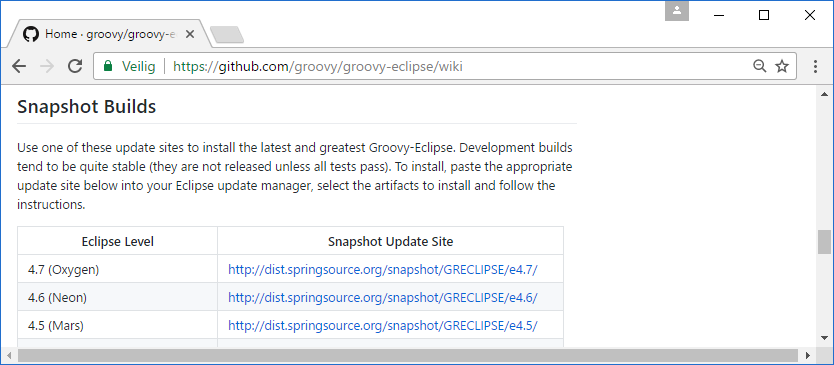 Installing the Groovy Eclipse plugin - Introduction to JVM Languages