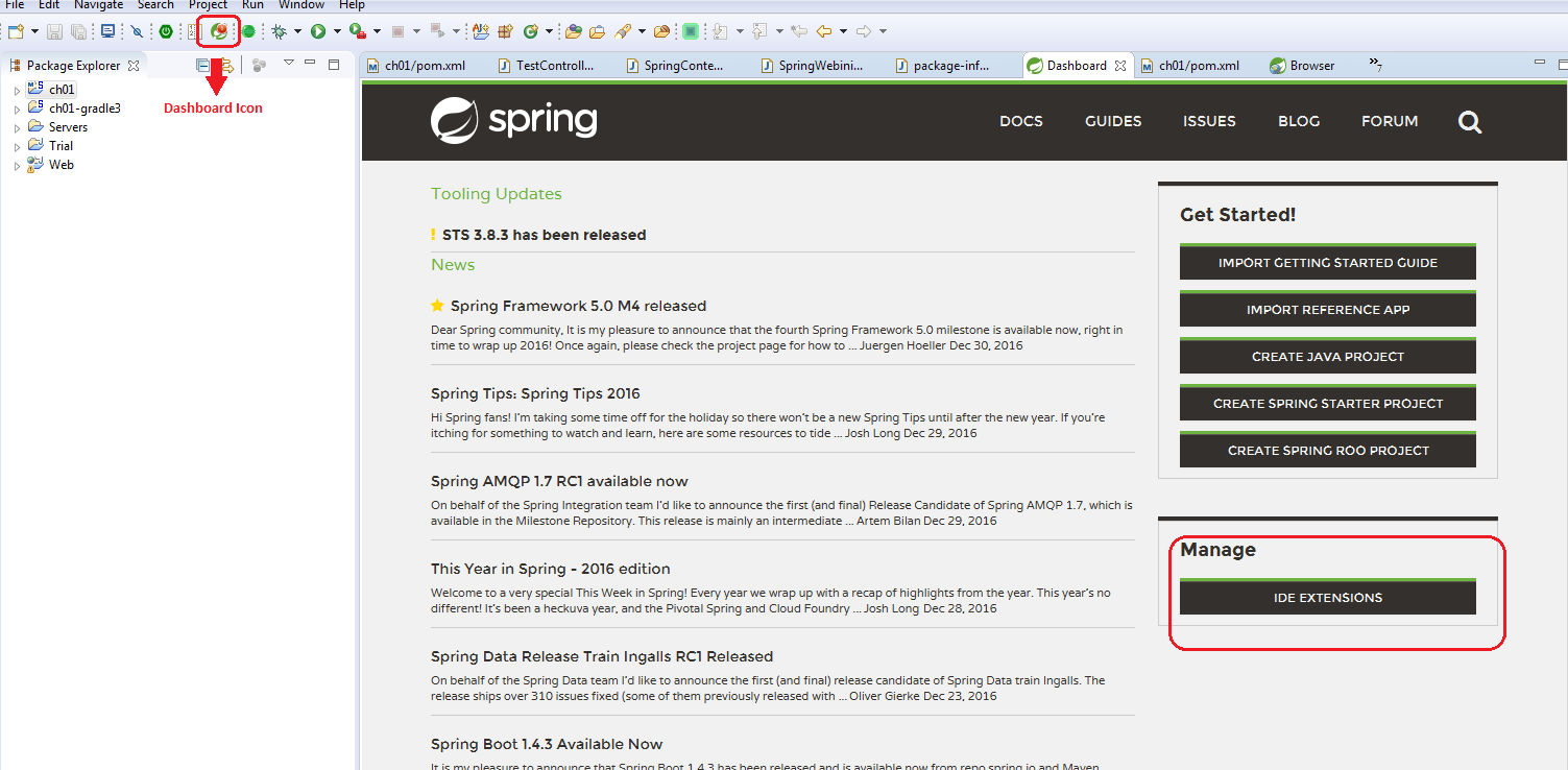 Creating Spring STS Eclipse projects using Gradle - Spring 5 0 Cookbook