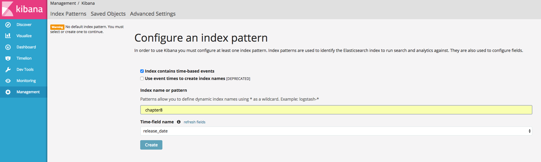Using Kibana to visualize aggregations - Learning Elasticsearch