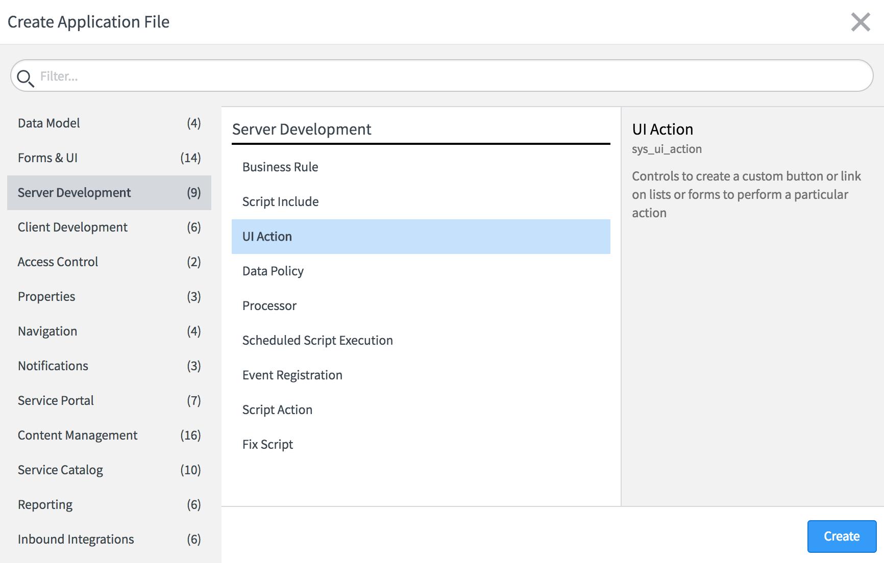 UI actions - ServiceNow Application Development