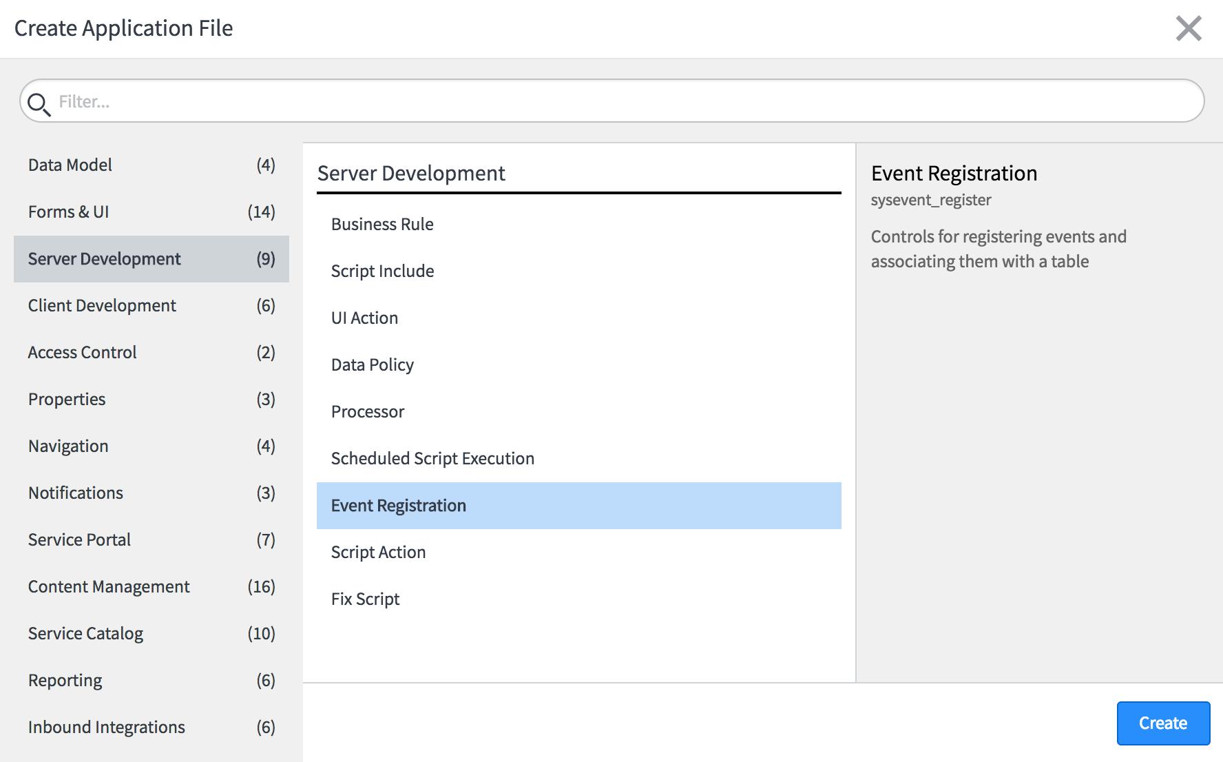 Events - ServiceNow Application Development