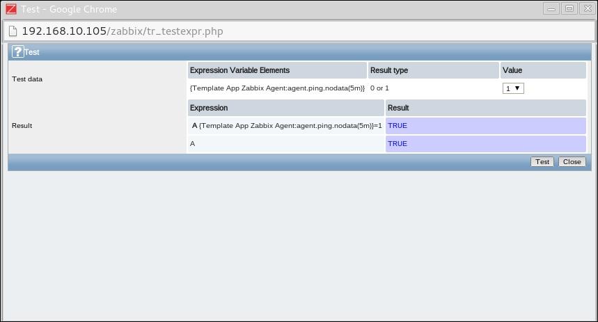 Testing our trigger expressions - Zabbix: Enterprise Network