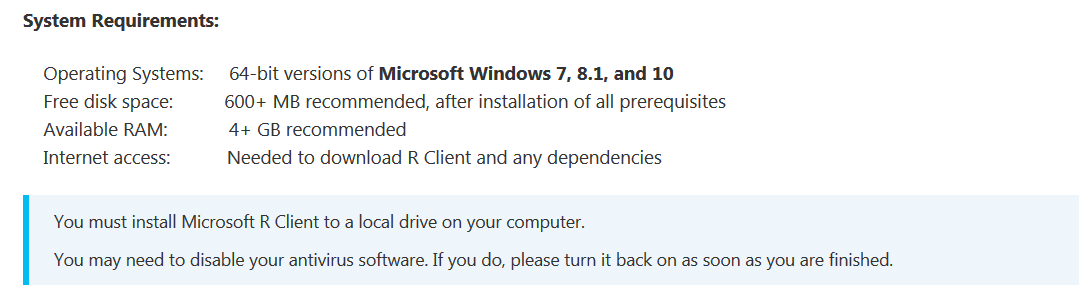 Installing and configuring R tools for Visual Studio in Windows