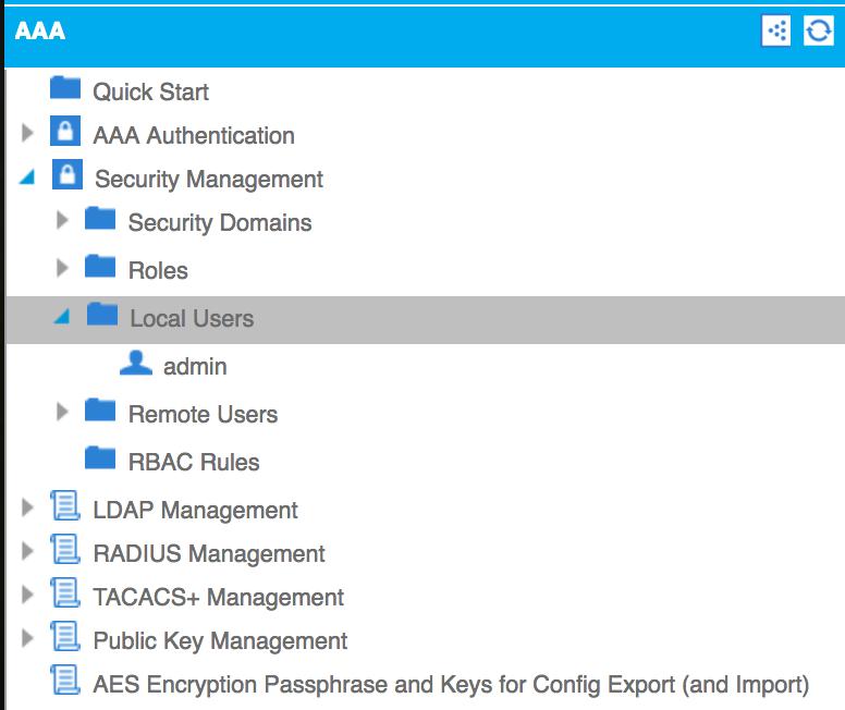 Creating local users - Cisco ACI Cookbook