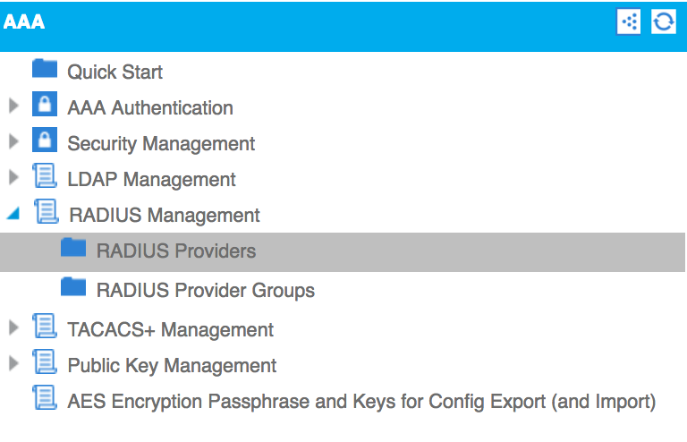 Connecting to a RADIUS server - Cisco ACI Cookbook