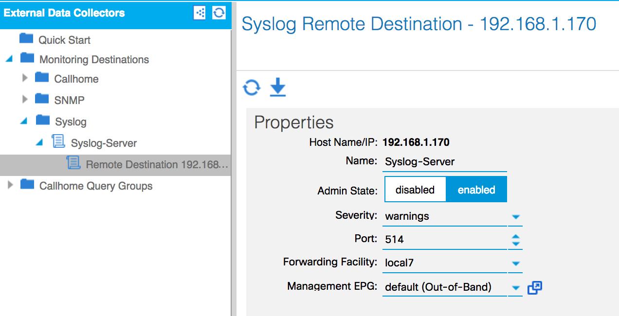 Configuring Syslog - Cisco ACI Cookbook
