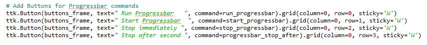 Adding a progressbar to the GUI - Python GUI Programming