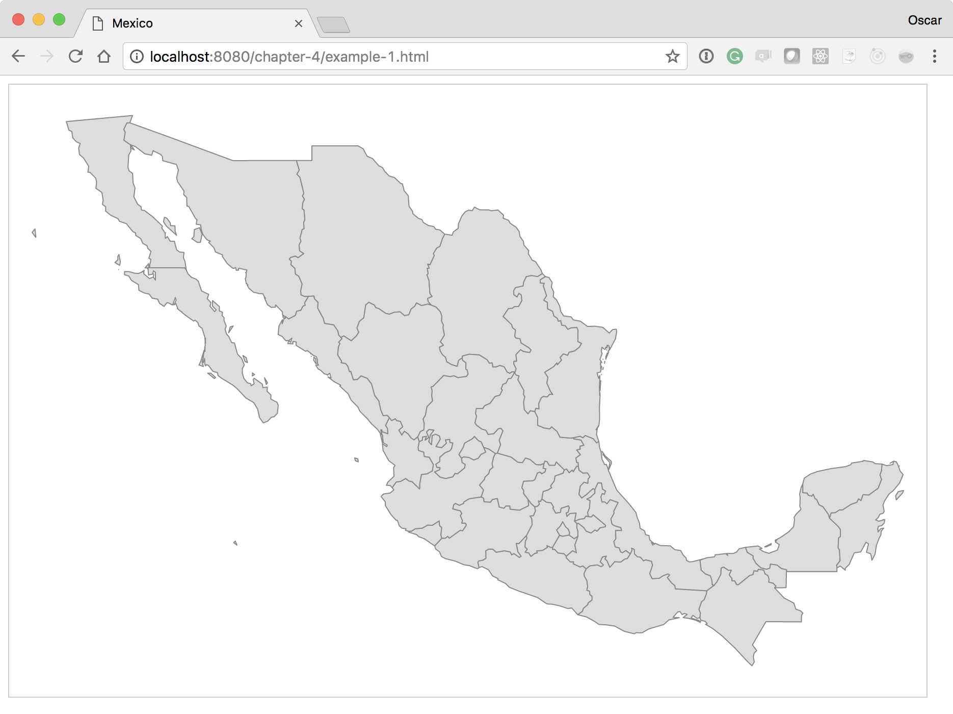 Foundation - creating your basic map - Learning D3 js 5