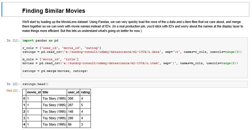 Finding movie similarities - Hands-On Data Science and