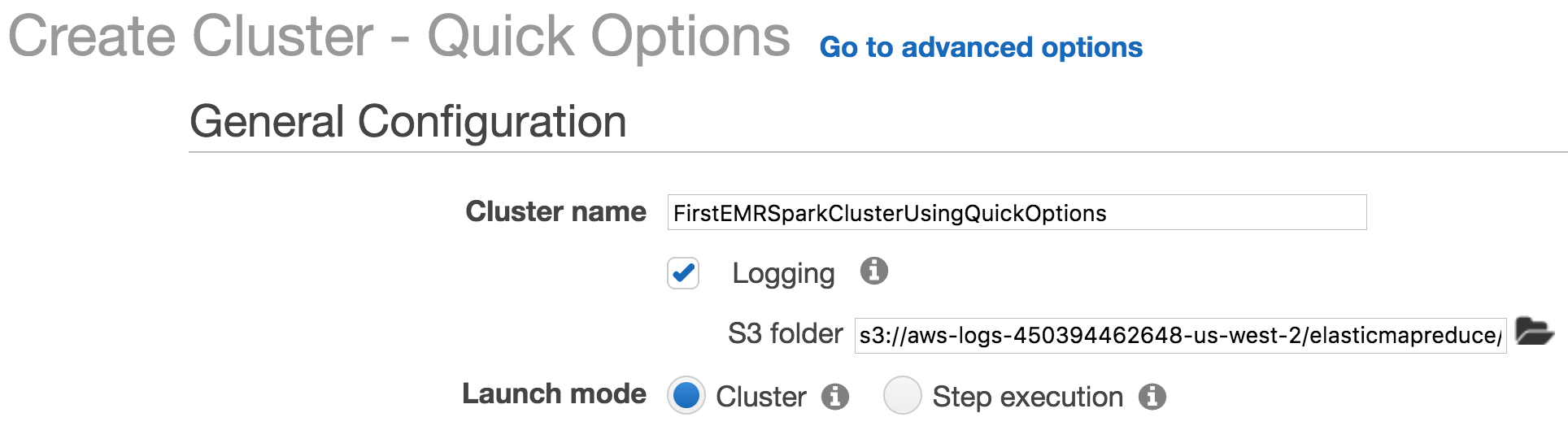 Configuring and using EMR-Spark clusters - Learning AWS - Second Edition