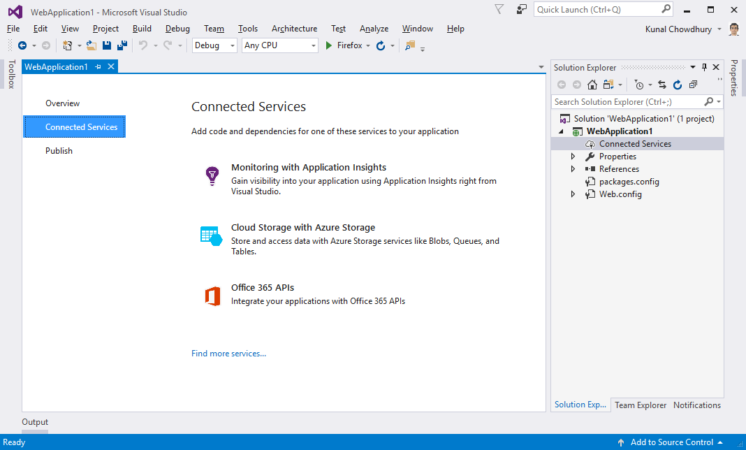 The new features and enhancements to the Visual Studio IDE