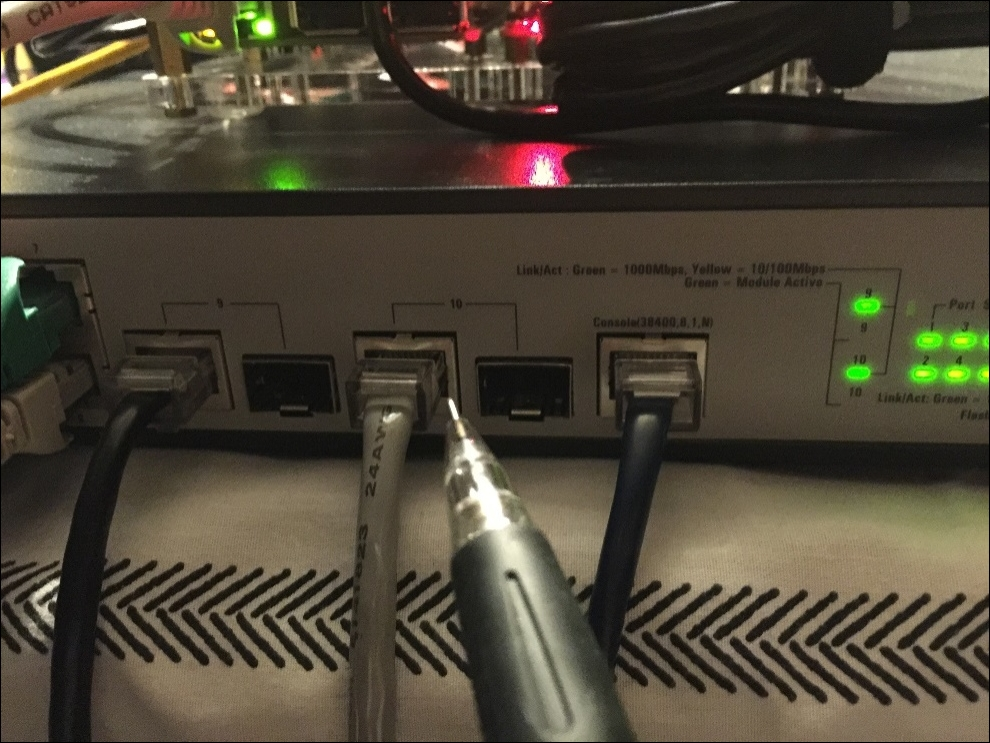 Configuring a network switch static IP address - Build