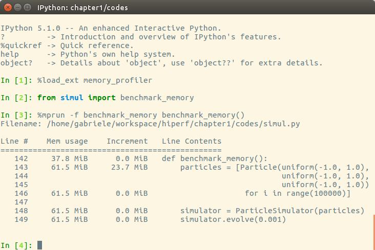Profiling memory usage with memory_profiler - Python High