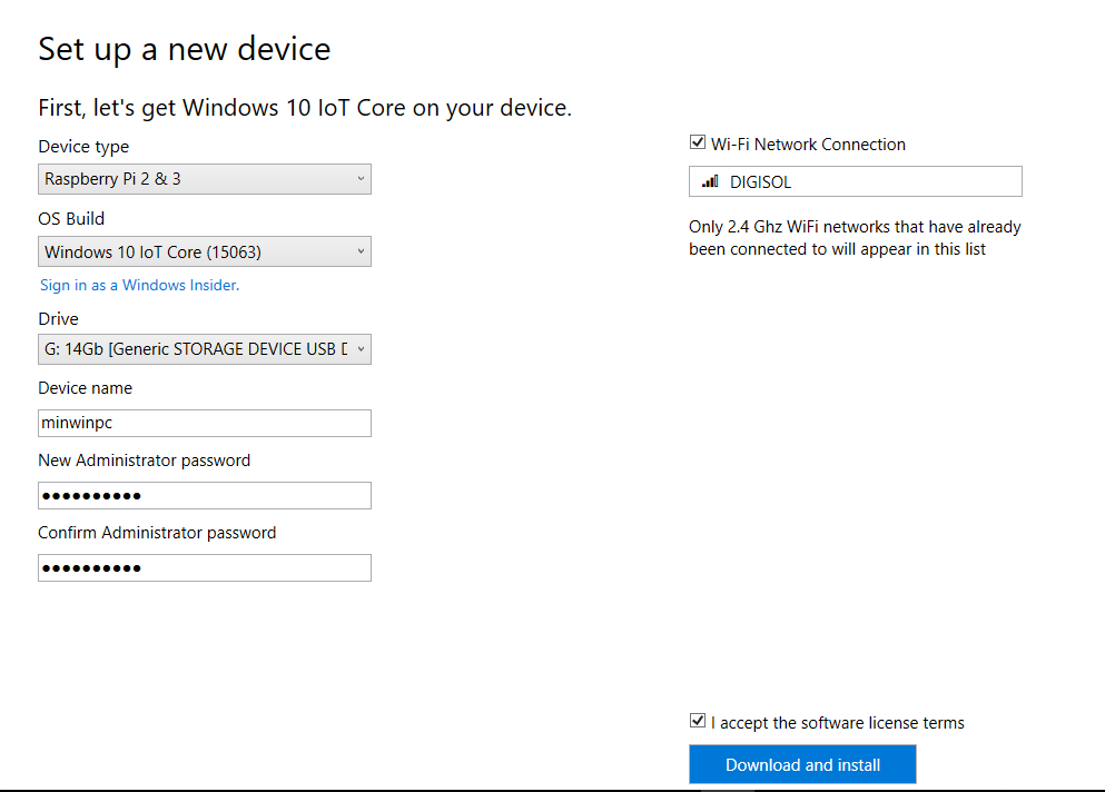 Install Windows IoT Core on Raspberry Pi - Azure IoT