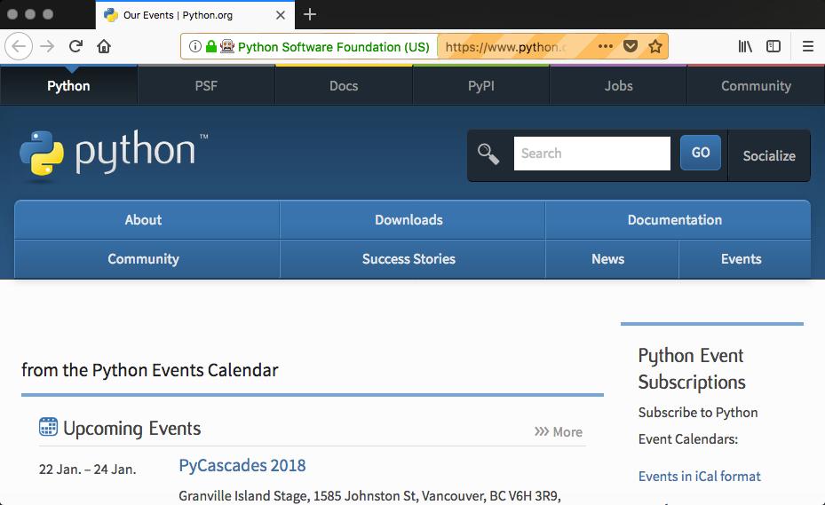 Scraping Python org with Selenium and PhantomJS - Python Web