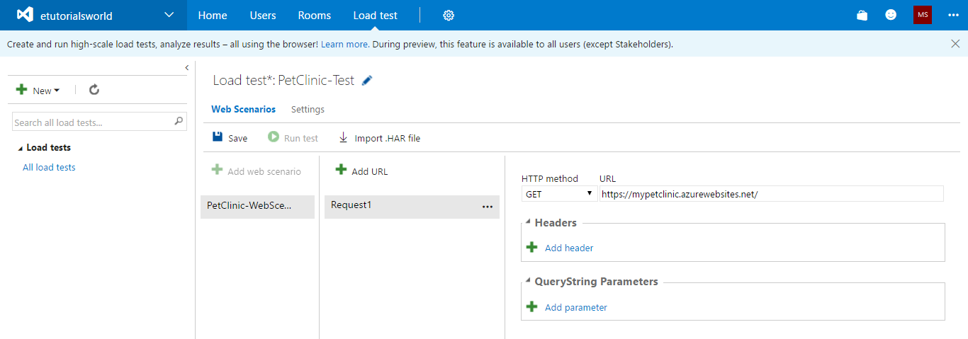 Load testing using a URL-based test and Apache JMeter for