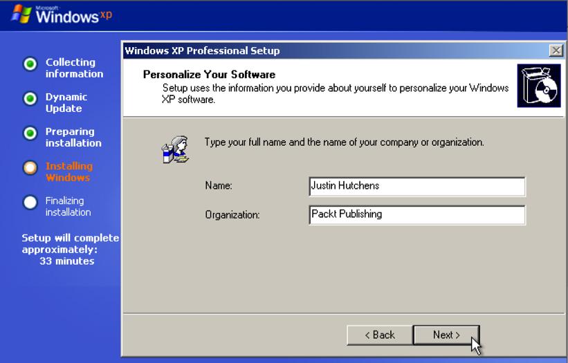 Installing Windows Server Kali Linux Network Scanning Cookbook