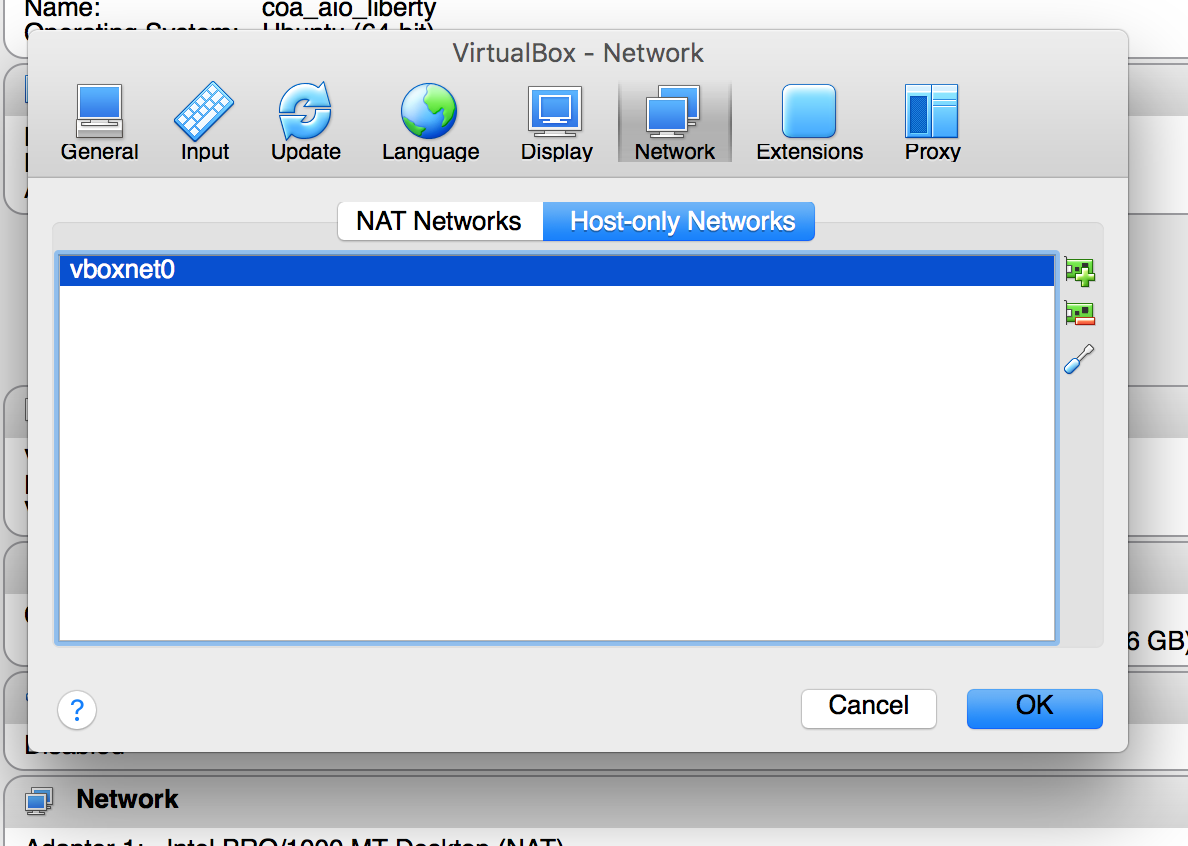 Configuring VirtualBox networking - Preparing for the
