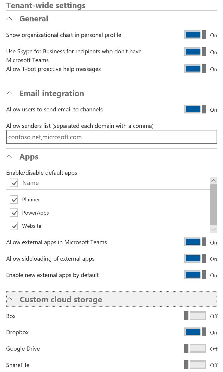 Administering Teams via Office 365 admin center - Mastering