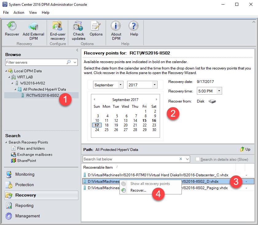 Recovering a Hyper-V virtual hard disk - Microsoft System
