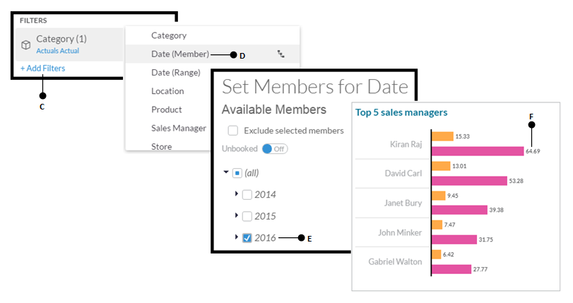 Applying a date filter - Learning SAP Analytics Cloud