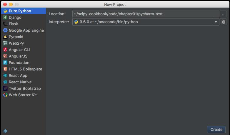 Running SciPy in PyCharm - SciPy Recipes