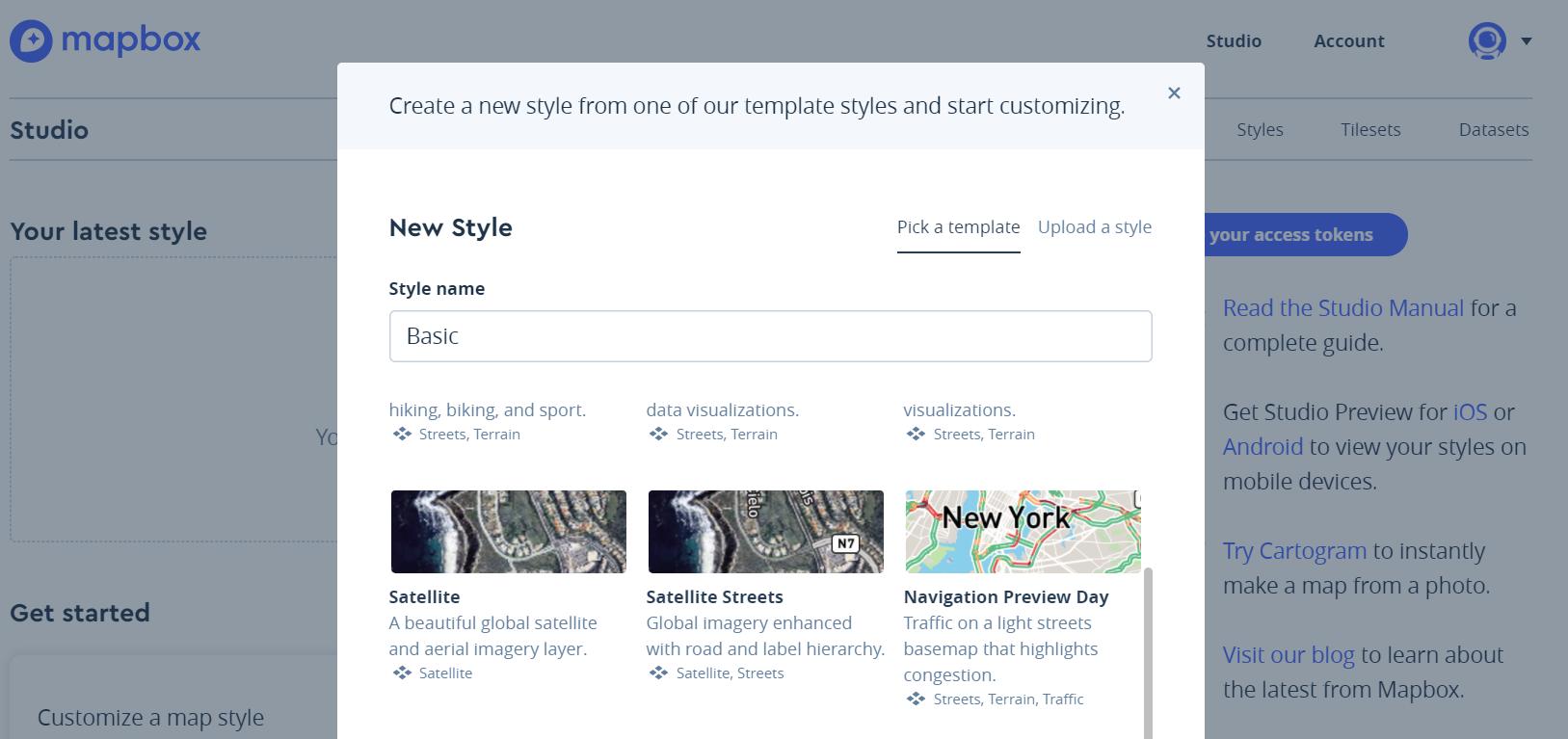Mapbox Studio - Mastering Geospatial Analysis with Python
