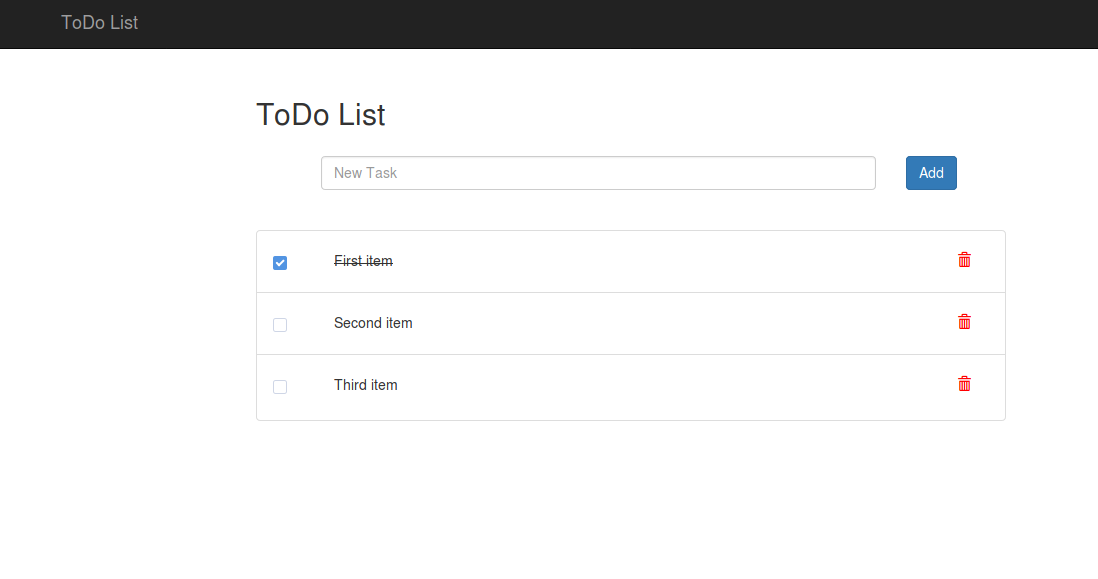 ToDo List app - JavaScript by Example
