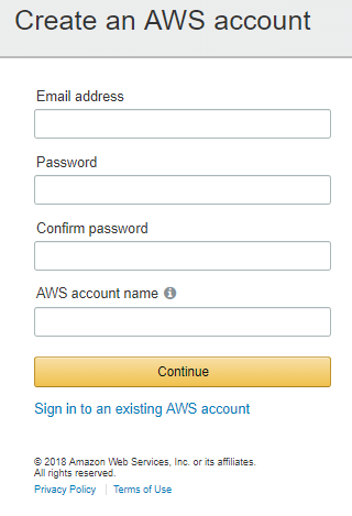 Sign-up process - Amazon Web Services Bootcamp