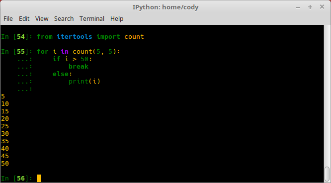 Using the itertools module - Secret Recipes of the Python Ninja