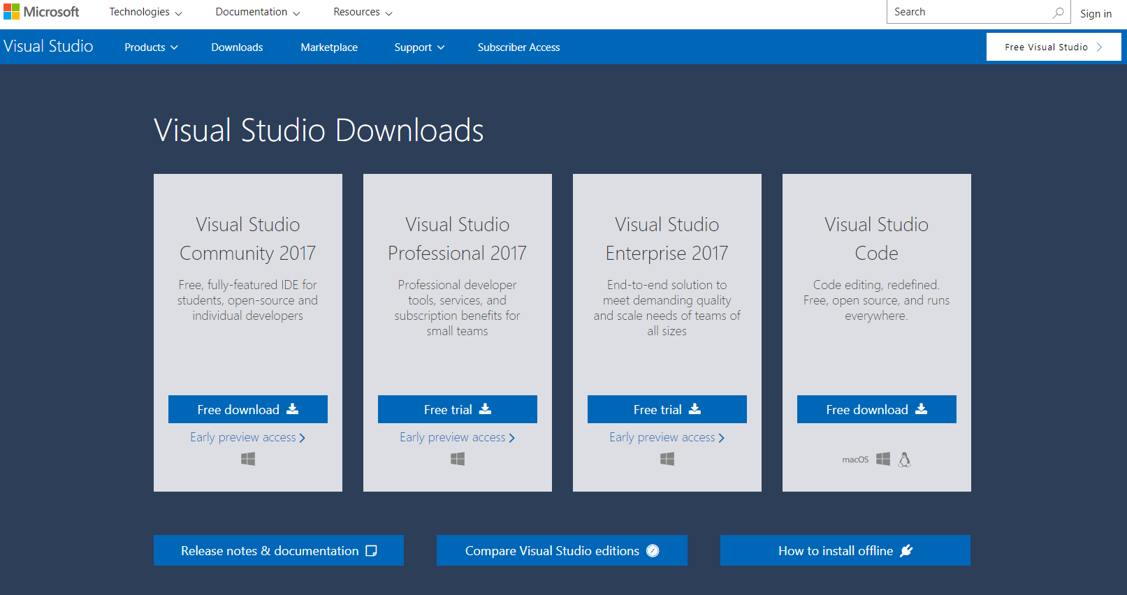 visual studio subscription download