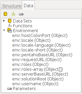 Environment variables - Pentaho 8 Reporting for Java Developers