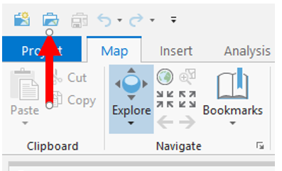Opening an existing ArcGIS Pro project - ArcGIS Pro 2 x Cookbook