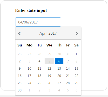 Basic and advanced Calendar scenarios - Angular UI